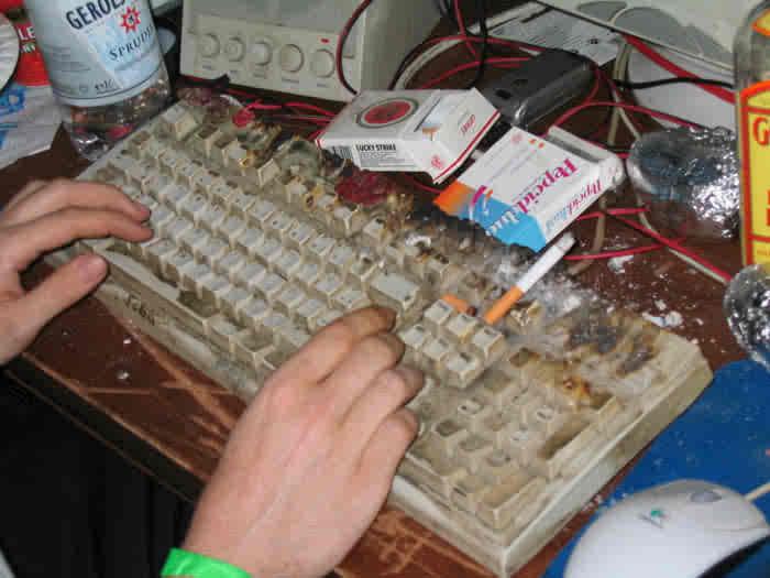 photo de clavier sale