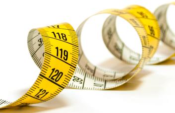 Photo d'un ruban à mesurer